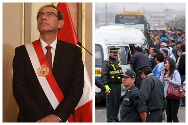"""Califican de """"populista"""" D.U. de Martín Vizcarra para subsidiar transportistas"""