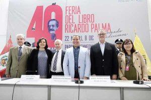 Inauguran Feria del Libro Ricardo Palma