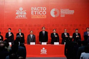 Elecciones 2020: Con presencia de Vizcarra los partidos políticos firman Pacto Ético Electoral