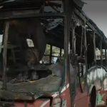Lince: bus de transporte público se incendia en pleno recorrido