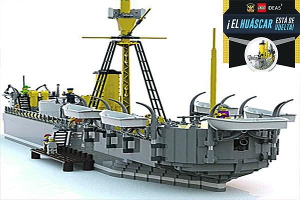 Construirán en lego el Monitor Huáscar