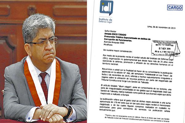 ¿ONG IDL quiere vacar y canear a Sardón?