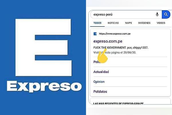 HACKEO MASIVO DEL SITIO WEB DEL DIARIO EXPRESO