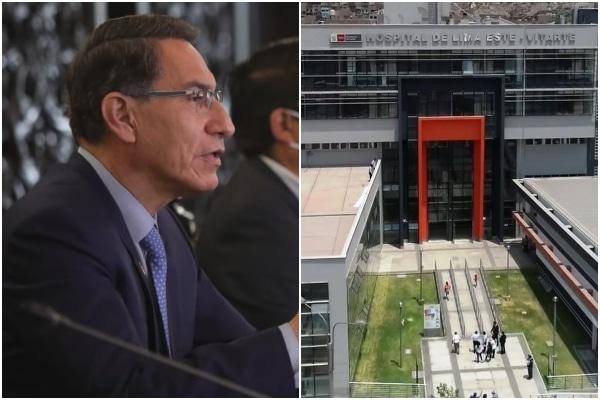 Hospital de Ate se convertirá en el Instituto Nacional de Medicina Crítica, asegura Martín Vizcarra