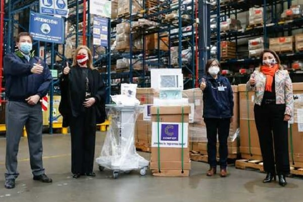Minsa recibe 25 ventiladores mecánicos donados por la Confiep para la atención de pacientes COVID-19