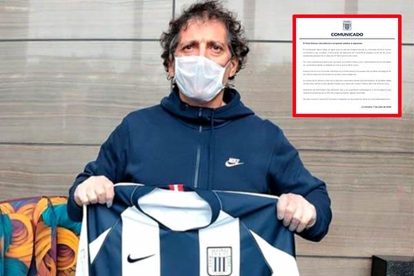 Alianza Lima confirmó que Mario Salas dio positivo para coronavirus