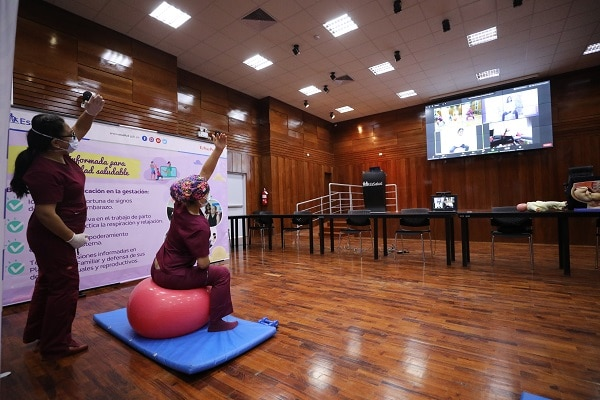 Obstetras celebran su día realizando dinámicas sesiones de Psicoprofilaxis Pre Natal vía comunicación ZOOM