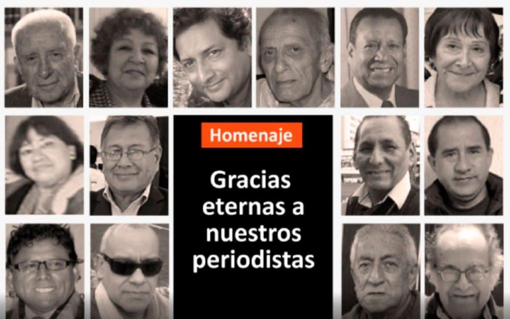 Oficiarán misa de honras a periodistas peruanos fallecidos por el coronavirus