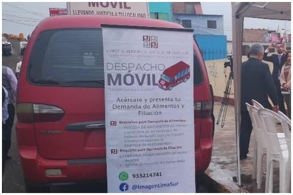 """""""Despacho Móvil"""" de Corte Lima Sur atenderá virtualmente denuncias por violencia familiar y alimentos"""