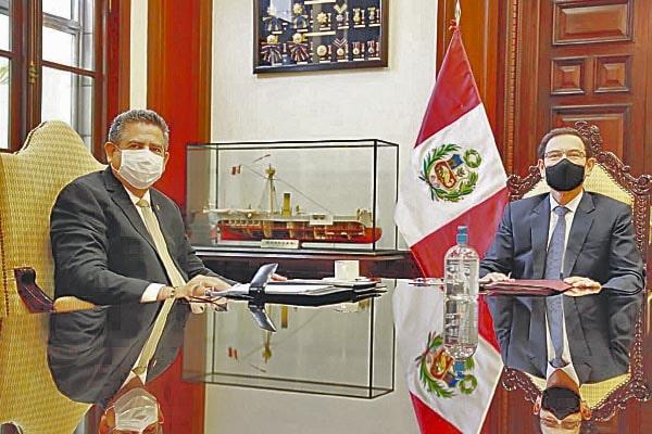 Merino: reunión con jefe de Estado fue positiva