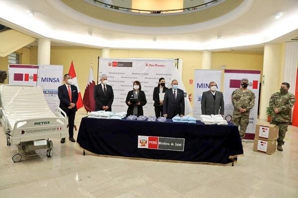 Coronavirus en Perú: Embajada de Qatar entrega donación de equipos de protección y camas UCI