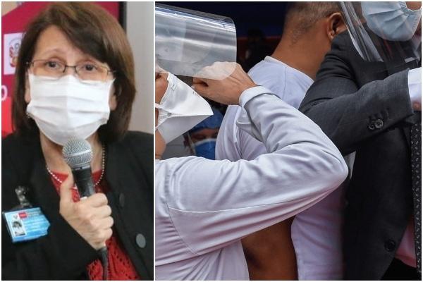 Pilar Mazzetti invoca a la población evitar saludar con el codo