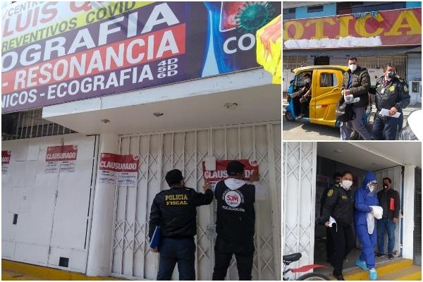 SJM: dos personas detenidas por atentar contra la salud pública en un policlínico
