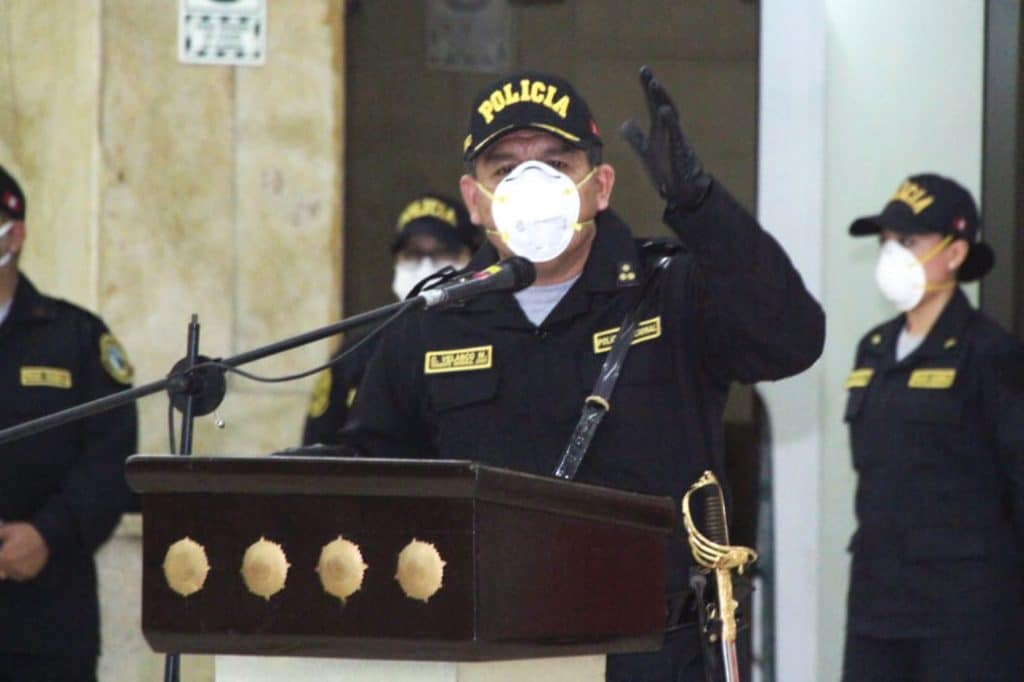 Comandante General de la PNP, Orlando Velasco Mujica, da positivo para coronavirus