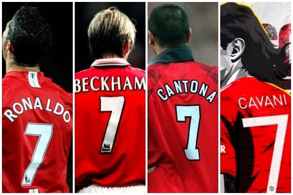 Edinson Cavani usará el mítico dorsal «7» en el Manchester United