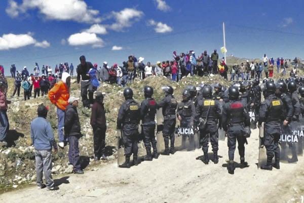 Nuevo intento de desalojo en Chilca