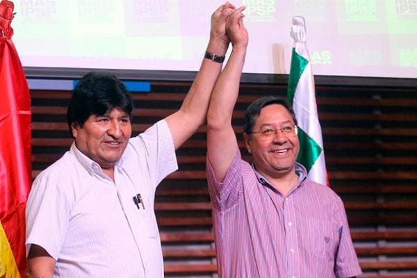 Luis Arce es virtual presidente de Bolivia, según resultados del boca de urna