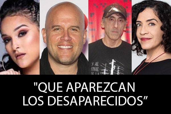 Artistas se pronuncian por los desaparecidos en marcha contra Merino