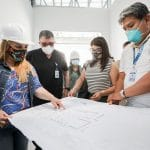 Hospital Alcántara de la Molina: Fiorella Molinelli supervisó trabajos de lo que será el flamante área de emergencia no COVID