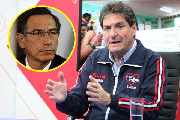 Juan Carlos Zurek: Bases de Somos Perú no quieren al expresidente Martín Vizcarra