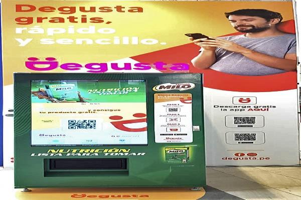 Máquina expende productos gratuitos
