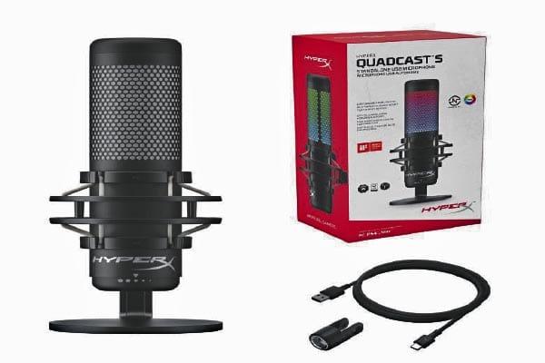 QuadCast S, un micrófono con iluminación dinámica