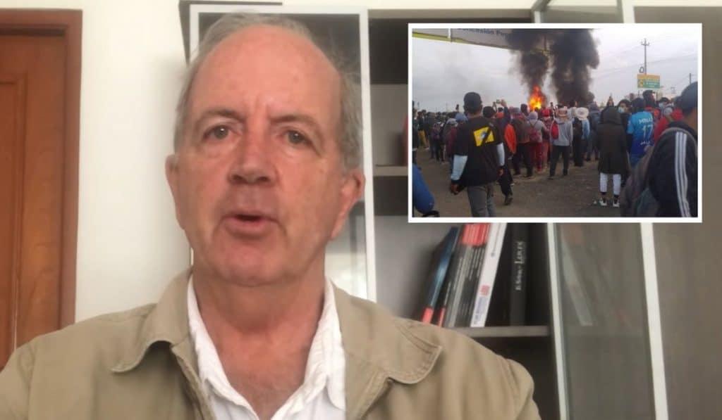 Fernando Cillóniz: «¿Por qué tanta mansedumbre y pusilanimidad frente a vándalos que están destrozando la infraestructura productiva de nuestro país?