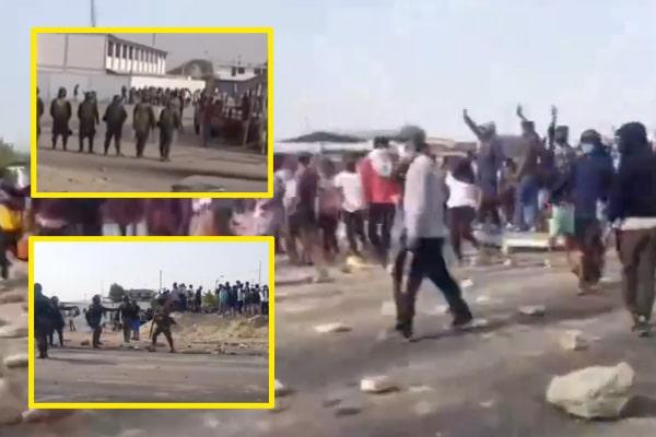 Ica: trabajadores agrarios atacan a efectivos de la Policía Nacional