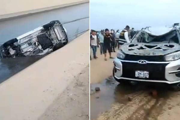 La Libertad: tres muertos deja despiste de camioneta que buscaba evadir protestas de trabajadores agrarios