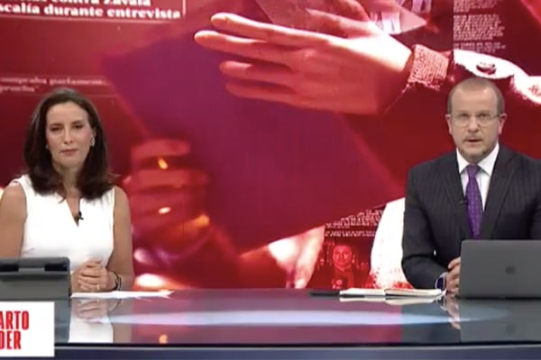 Sol Carreño y Augusto Thorndike se despidieron de programa Cuarto Poder | VIDEO