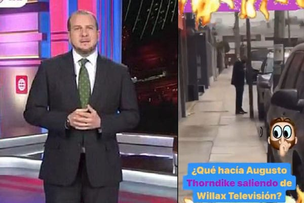 Captan a Augusto Thorndike saliendo de Willax | VIDEO