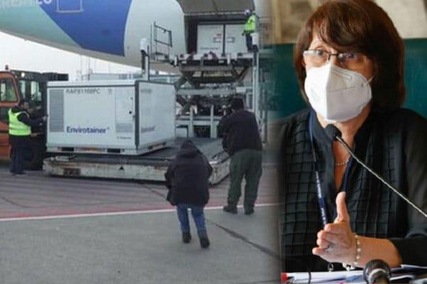Perú firmó convenio para el transporte aéreo de la vacuna Sinopharm, afirmó Pilar Mazzetti