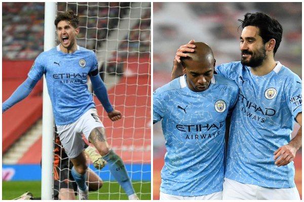 Manchester City venció 2-0 al Manchester United y disputará la final de la Copa de la Liga inglesa