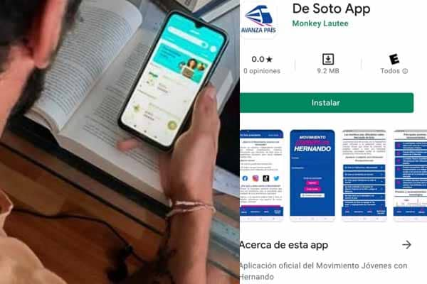 Crean De Soto App, la primera aplicación móvil política de campaña