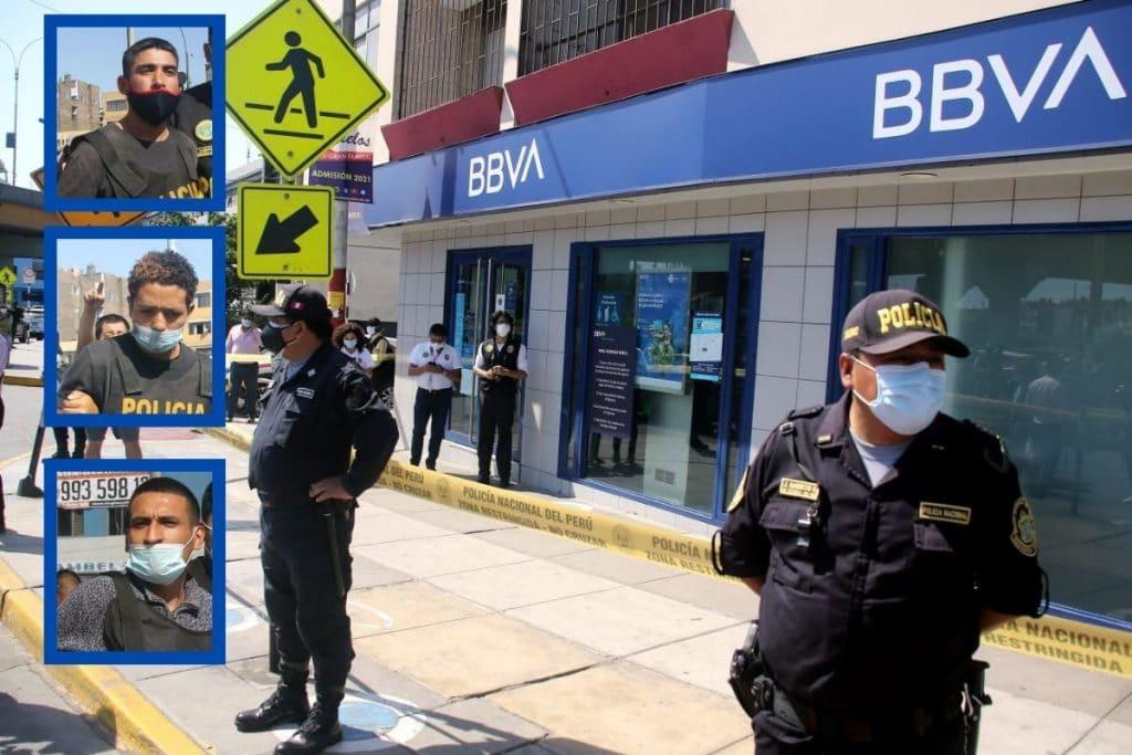 Pistoleros caen tras asalto a banco en SMP