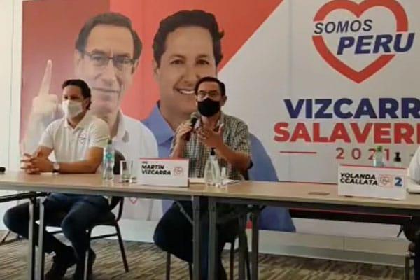 """Martín Vizcarra: """"Del entorno laboral del despacho presidencial nadie se ha vacunado"""""""