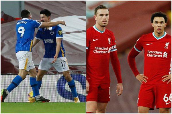 Liverpool cayó 0-1 ante el Brighton por la Premier League