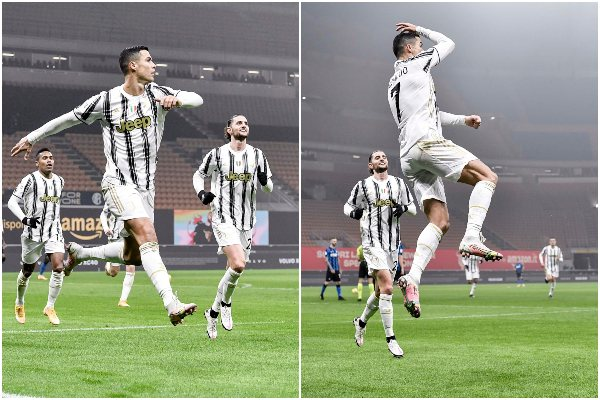 Con doblete de Cristiano Ronaldo, Juventus venció 2-1 a Inter por la ida de la semifinal de la Copa de Italia