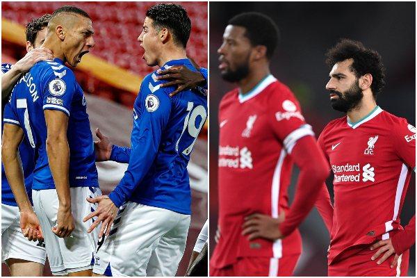 Liverpool cayó 0-2 ante Everton por la Premier League