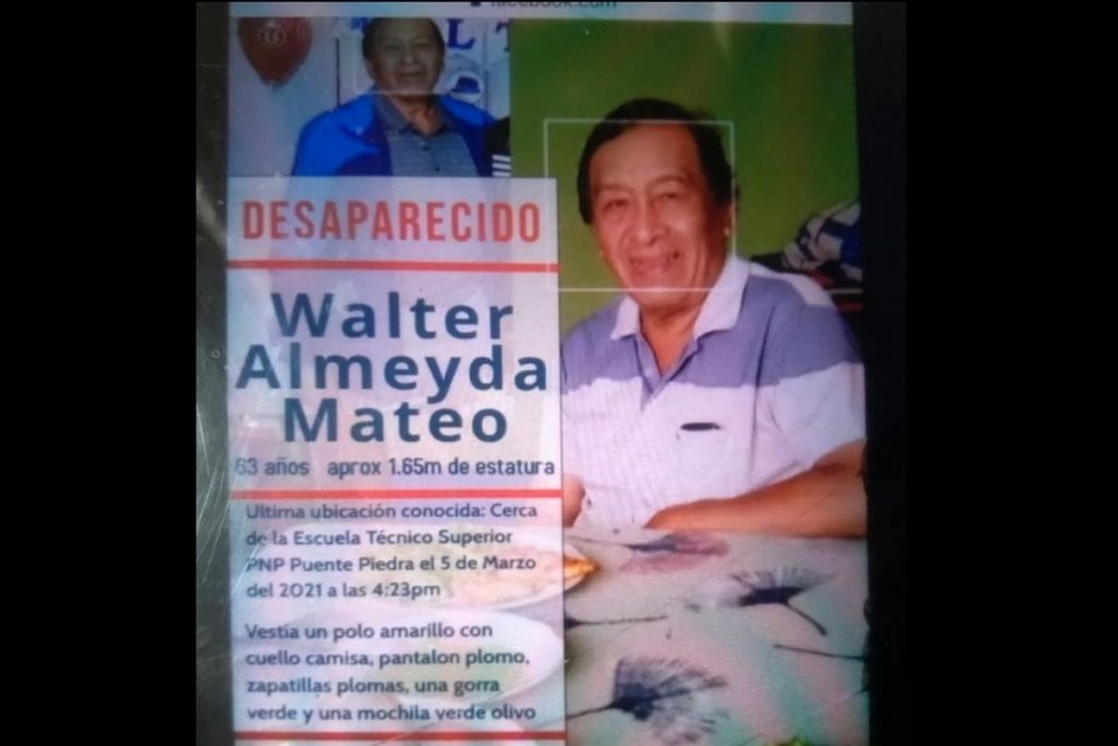 Familia pide ayuda para encontrar a anciano desaparecido hace casi una semana