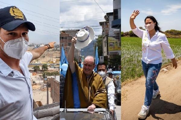 López Aliaga, Forsyth y Fujimori lideran intención de voto, pero aún nada está dicho