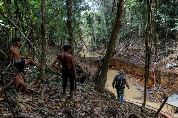 Mineros ilegales canjean oro por dosis