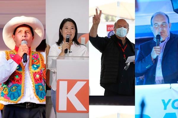 ONPE al 81.2%: Castillo 18.2%, Fujimori 13.1%, De Soto 12.2% y López Aliaga 12.1%