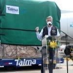 Presidente Sagasti tras recibir lote de 276,000 dosis de AstraZeneca: «Cumplimos lo que prometemos»