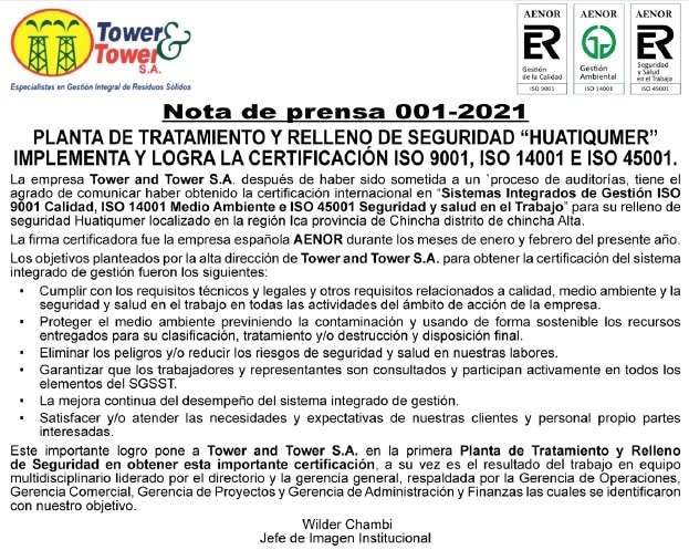 Aviso Tower and Tower  26-04-2021
