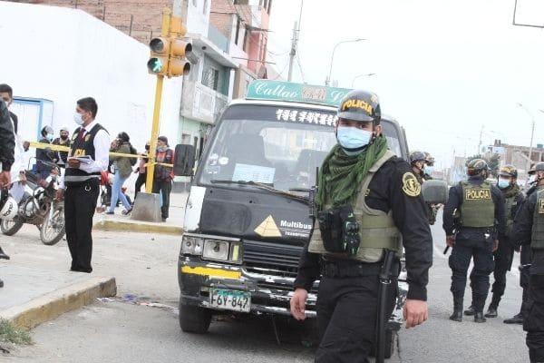 Callao: reportan 130 víctimas por armas de fuego