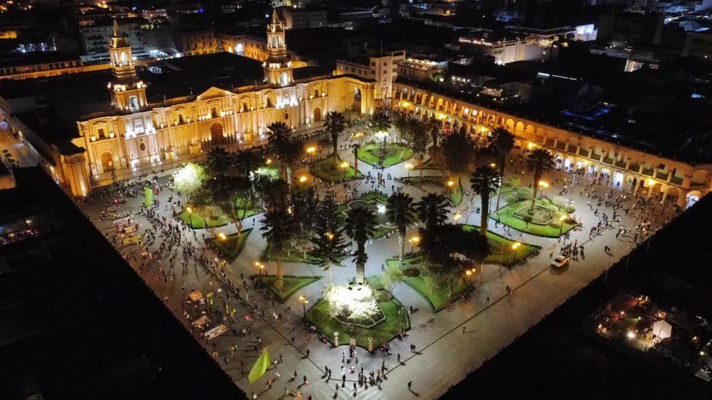 Inmovilización en Arequipa por debate presidencial