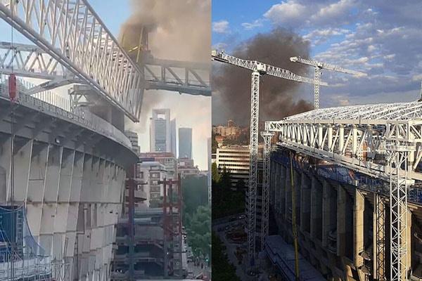 ¡Susto en Madrid! Se produjo un incendio en el Estadio Santiago Bernabéu