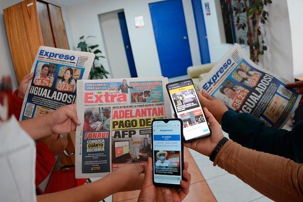 Suscripción digital: acceda a todos los contenidos de los diarios Expreso y Extra en un solo sitio