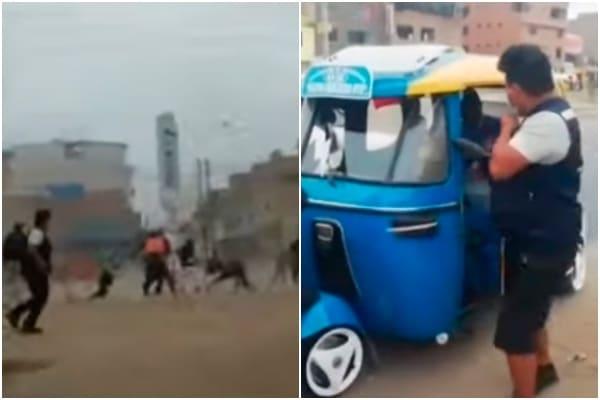 SJM: fiscalizadores y PNP fueron atacados con piedras y palos por mototaxistas informales